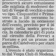 Gazzetta di Modena - 28 Giugno 2007